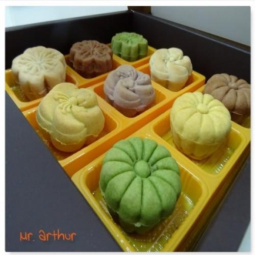 花果日式果沙雪藏月餅